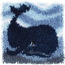 Latch Hook 12x12 Kit- Big Blue Whale