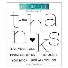 Concord & 9th Big Thanks Clear Stamps