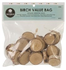 Birch Rounds, 20pc