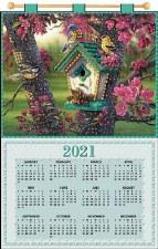 Jeweled 2021 Calendar - Birdhouse