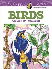 Creative Haven Color-by-Number Adult Coloring Book- Birds