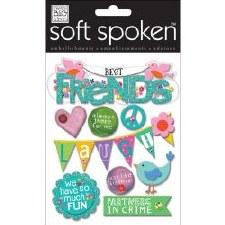 MAMBI Soft Spoken Stickers- Friends- Birds & Friends