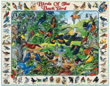 Birds of the Back Yard - 1,000 Piece Puzzle