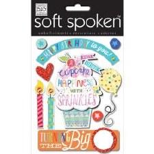 MAMBI Soft Spoken Stickers- Birthday- Birthday Cupcake