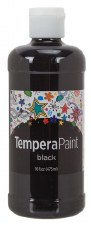 Fresco Tempera Paint, 16oz- Black