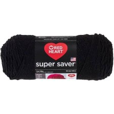 Red Heart Super Saver Yarn- Black