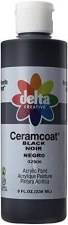 Delta Ceramcoat Acrylic Paint, 8oz- Black