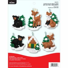 Bucilla Felt Ornament Kit- Black Bear Cabin