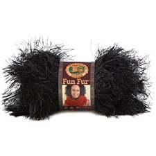 Fun Fur Yarn- Black