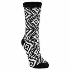 Aztec Galaxy Crew Socks - Black