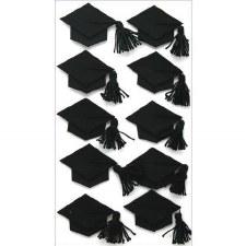 Jolee's Graduation Dimensional Stickers- Grad Caps