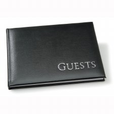 Guest Book- Black with Silver