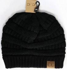 CC Knit Beanie- Black