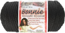 Bonnie 4mm Craft Cord- Black