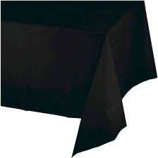 """Touch of Color Plastic Tablecover 54""""x108""""- Black"""