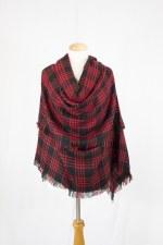 Blanket Scarf- Red & Black Plaid