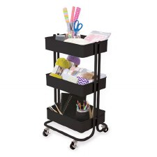 Rolling Utility Cart- Black