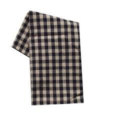 "Small Check 20""x28"" Tea Towel- Black"