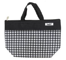Thermal Insulated Lunch Bag- Black Gingham