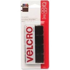 """Velcro Sticky Back Squares, 7/8""""- Black"""