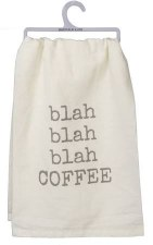 Dish Towel- Blah Blah Coffee