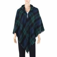 Blanket Scarf- Plaid: Navy, Black, & Green