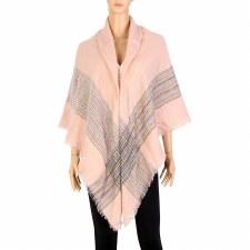 Blanket Scarf- Striped: Dusty Pink