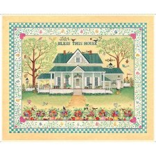 Fabric Panel- Bless This House