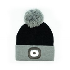 Night Owl Kid's Rechargeable LED Beanie - Black