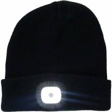 Night Scout Beanie w/ LED Light- Black