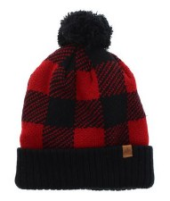 Great Northern Buffalo Check Knit Hat- Adult Unisex
