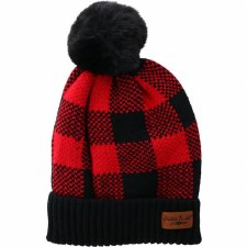 Buffalo Plaid Beanie- Black & Red Check