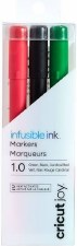 Cricut Infusible Ink Marker Set, 3ct- Black, Red, & Green
