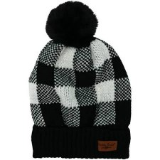 Buffalo Plaid Beanie- Black & White Check