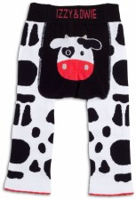 Baby Leggings, Cow- 12-24m