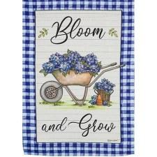 Garden Flag, Suede- Bloom & Grow