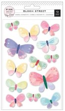 Bloom Street Stickers- Dimensional Butterflies