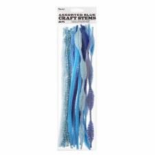Chenille Craft Stem Assortment- Blue Mix