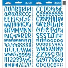 Abigail Alphabet Sticker- Blue Jean