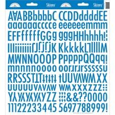 Skinny Alphabet Stickers- Blue Jean