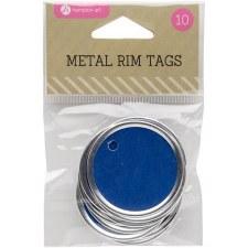 Hampton Art Metal Rim Tags- Blue