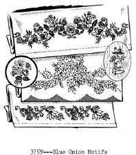 Aunt Martha's Iron On Transfers- Blue Onion Motifs #3759