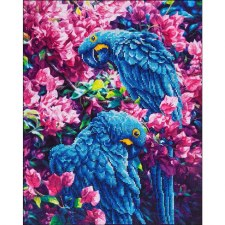 Diamond Facet Art Kit- Blue Parrot