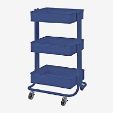 Rolling Utility Cart- Blue