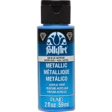 FolkArt 2 Oz. Metallic Acrylic Paint- Blue Sapphire