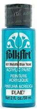 FolkArt 2 Oz. Metallic Acrylic Paint- Blue Topaz