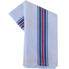 "Vintage Style 20"" x 28"" Tea Towel- Blue & Red Stripe"