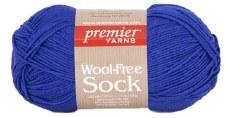 Wool Free Sock Yarn- Blue