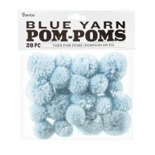 Yarn Pom-Poms- Light Blue