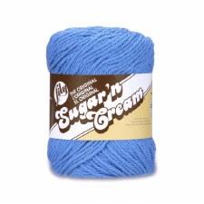 Sugar 'n Cream Yarn, Solid- Blueberry #1725